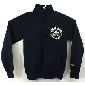 Notre Dame Champion Eco Fleece Sweatshirt 1/4 Zip